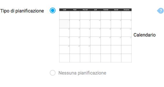 Visualizzare il calendario