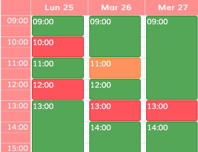 Il calendario sul sito