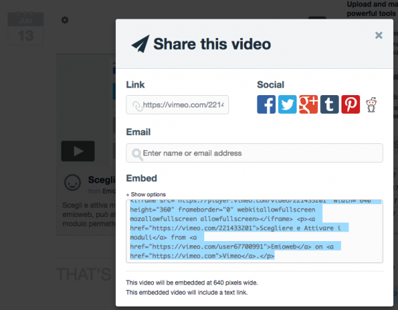 Condivisione video