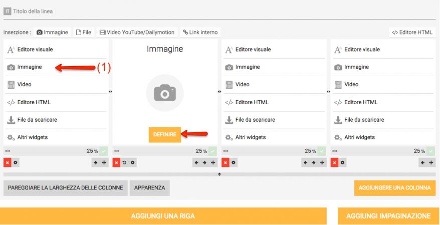 Immagine widget scegliere immagine