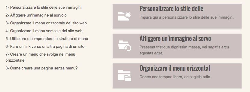It elenco dettaigliata semplice manager